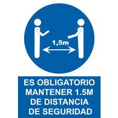 OBLIGA DISTANCIA 1.5M SEGURIDAD NORMALUZ 200X300 MM