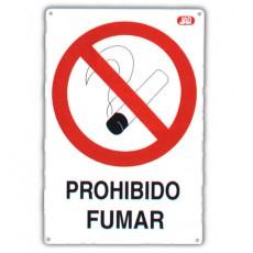 SEÑAL FIJA PROHIBIDO FUMAR CV 40X30 CM