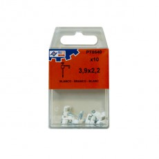 GRAPA PLASTICO BLANCO C/10 PZS PROFER TOP 3.9X2.2