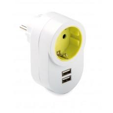 ADAPTADOR TT LATERAL 2 USB FAMATEL 16A-250V