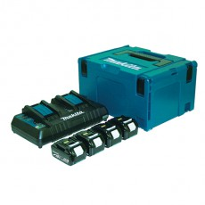 KIT CARGADOR DOBLE+4 BAT 4 AH MAKITA 18 V