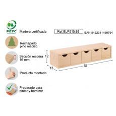 CAJONERA 5X1 PINO S/BARN ASTIGARRAGA 57X13X12CM